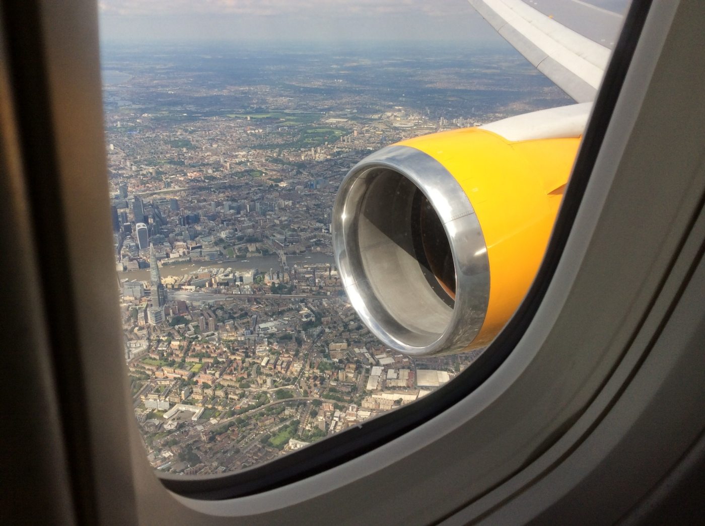 View of London from the plane