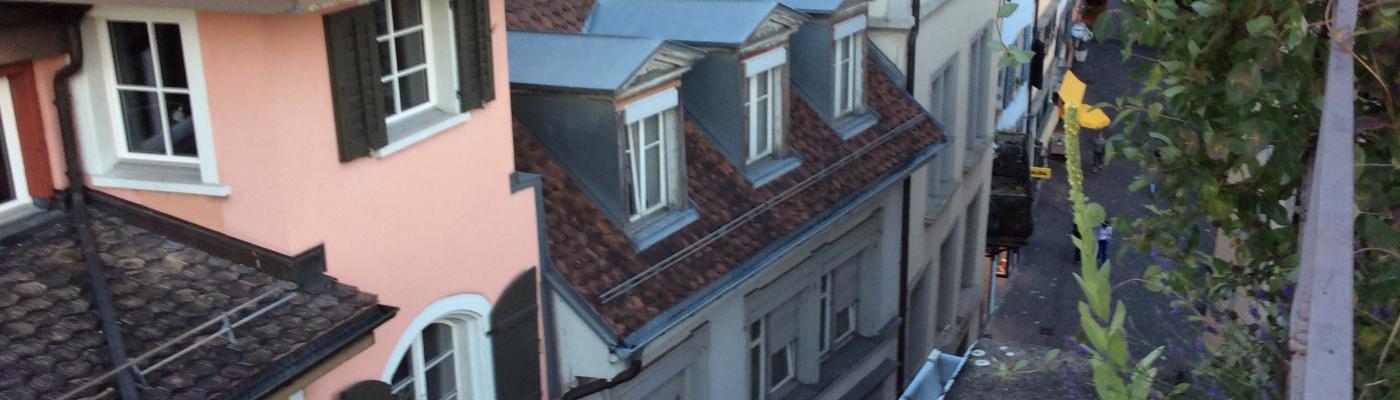 View from hostel in Zurich