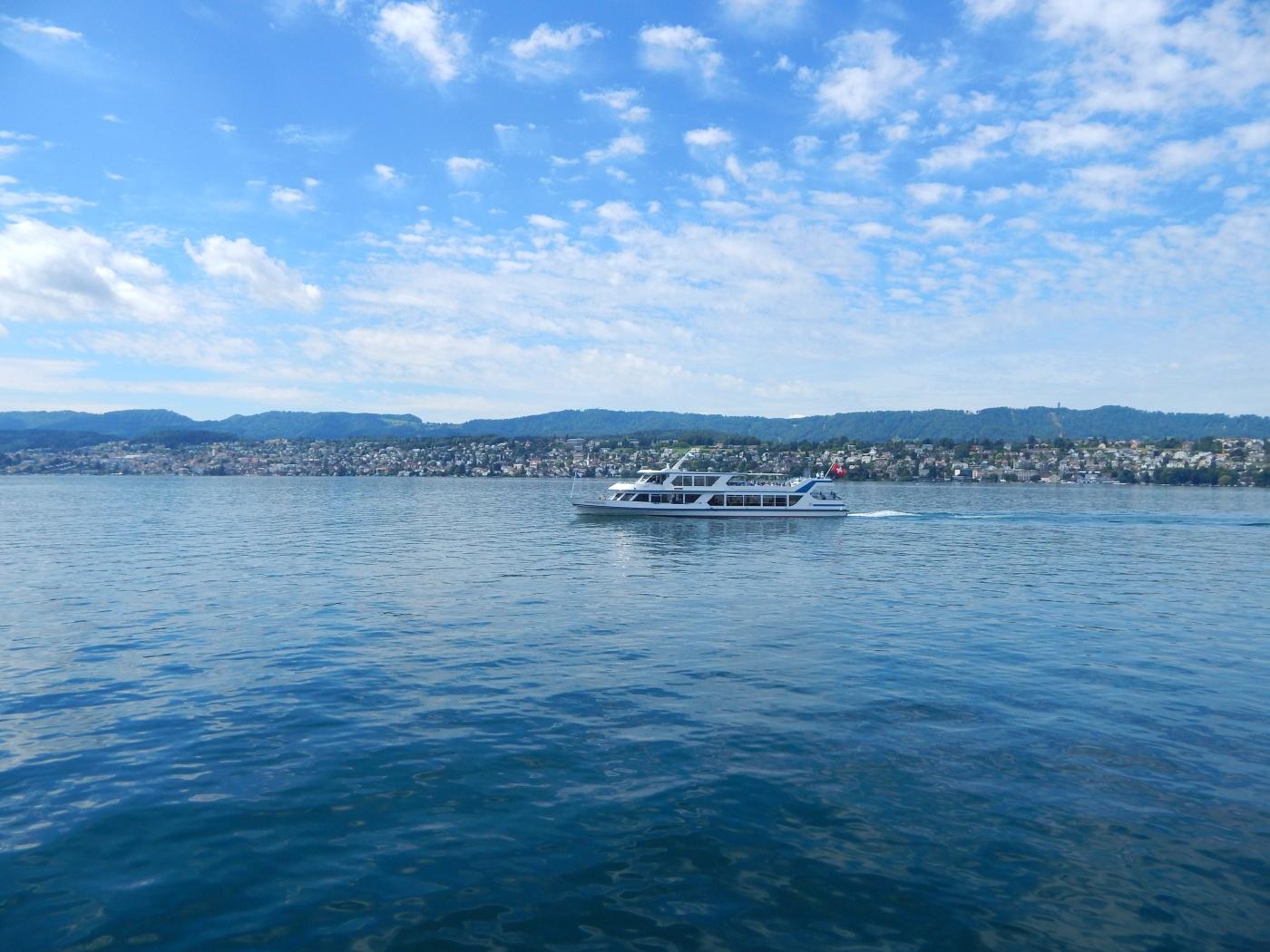 ferry boat ride in Switzerland