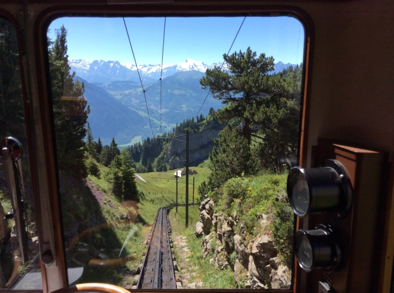 Cogwheel train on Mt. Pilatus