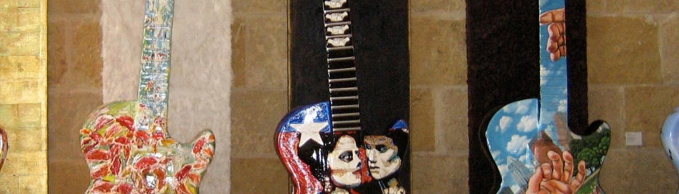 Painted Guitars in Austin, Texas