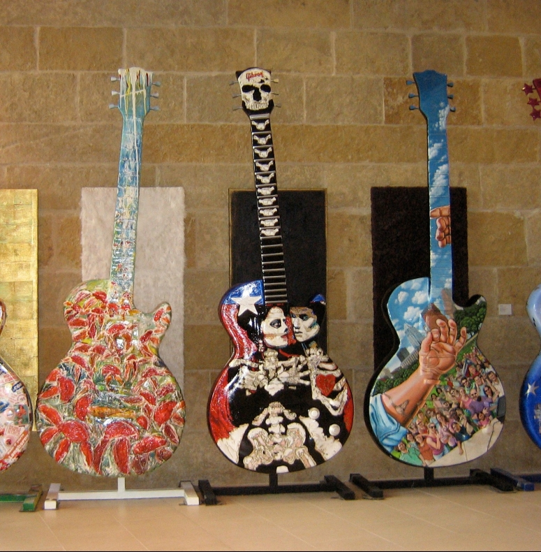 Painted Guitars in Austin, Texas