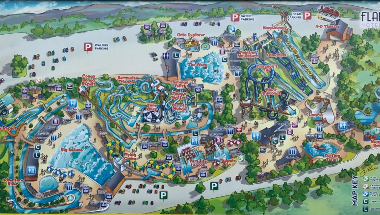 Noah's Ark Water Park Map