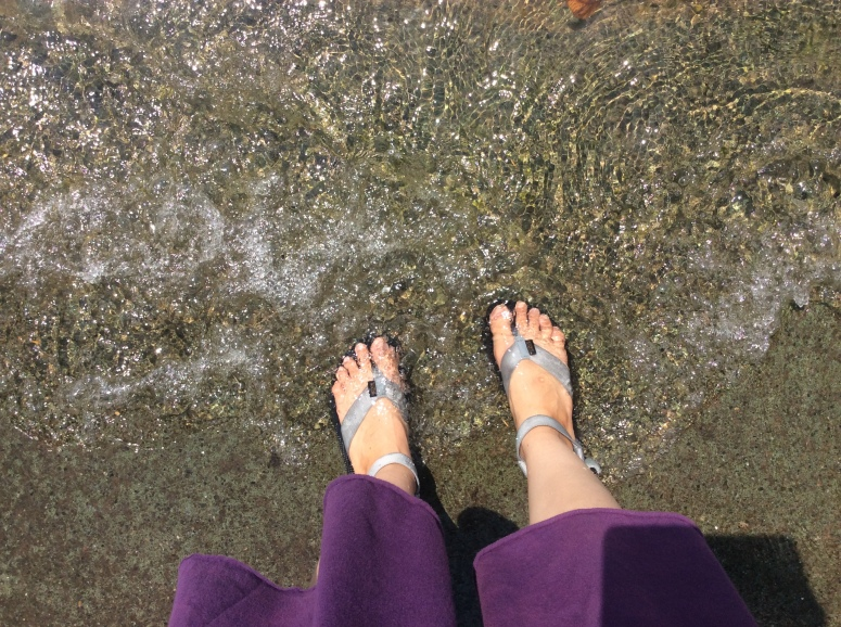 Feet in Lake Thun
