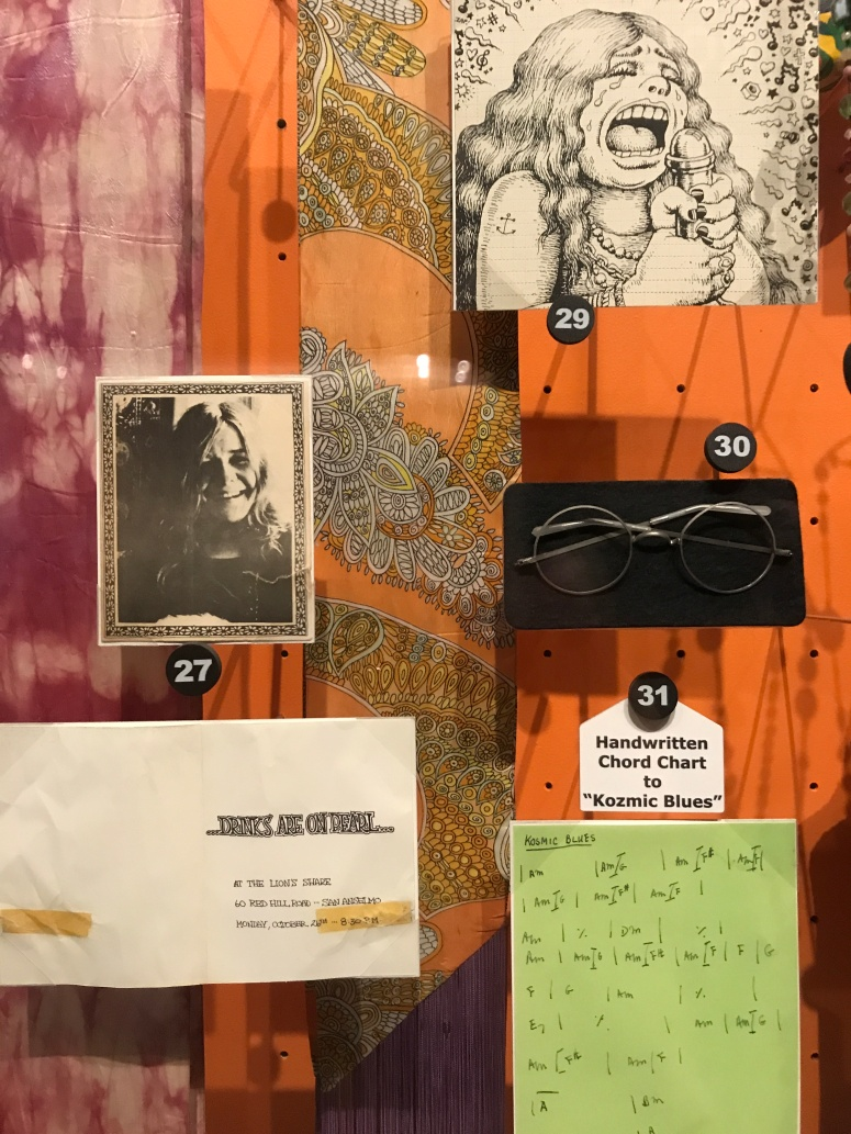 Janis Joplin Memorabilia at the Rock n' Roll Hall of Fame
