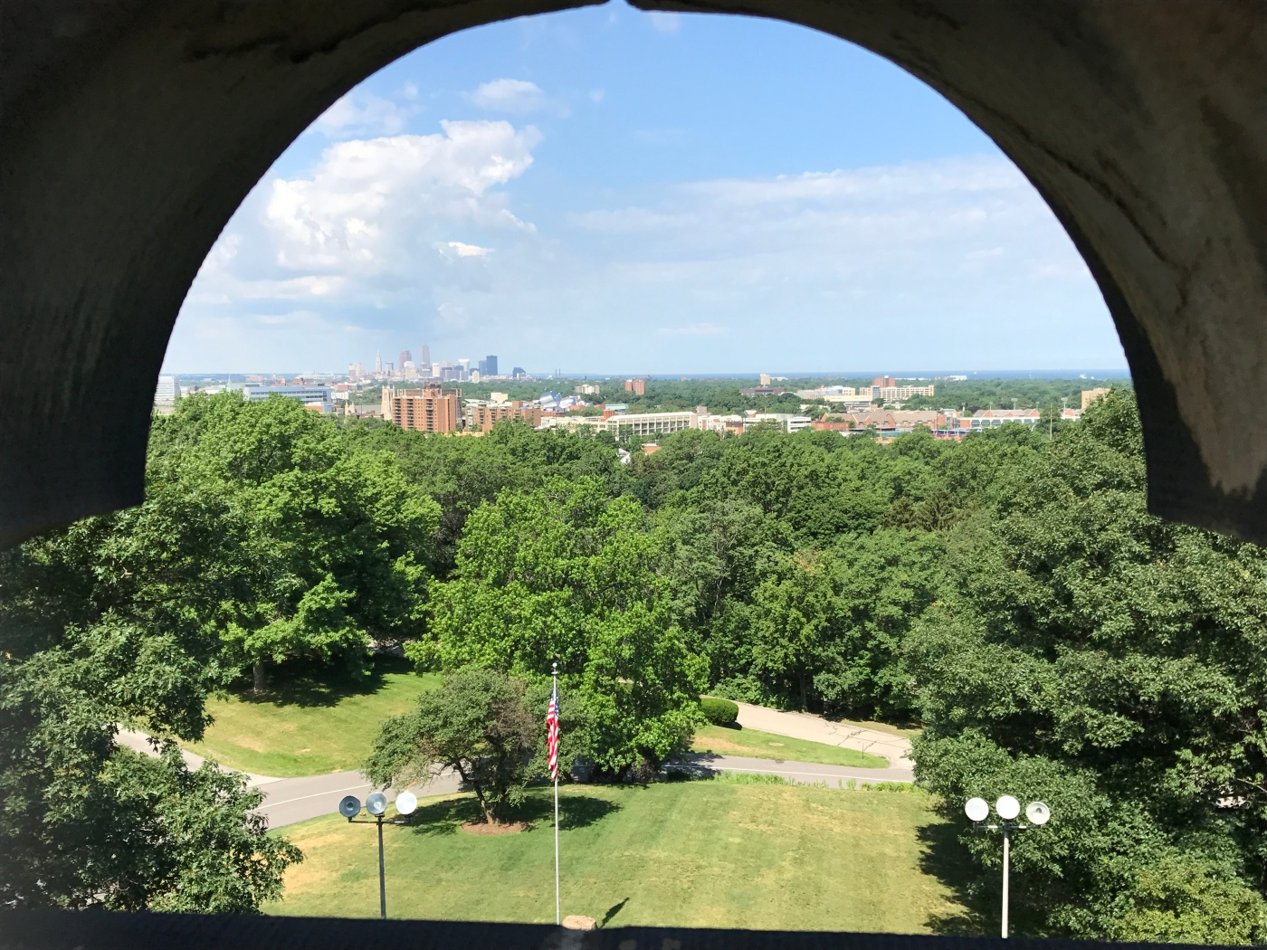 Cleveland Skyline from the James Garfield Memorial