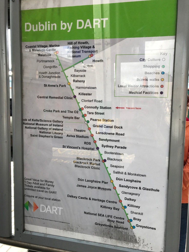 Dublin to Howth via DART