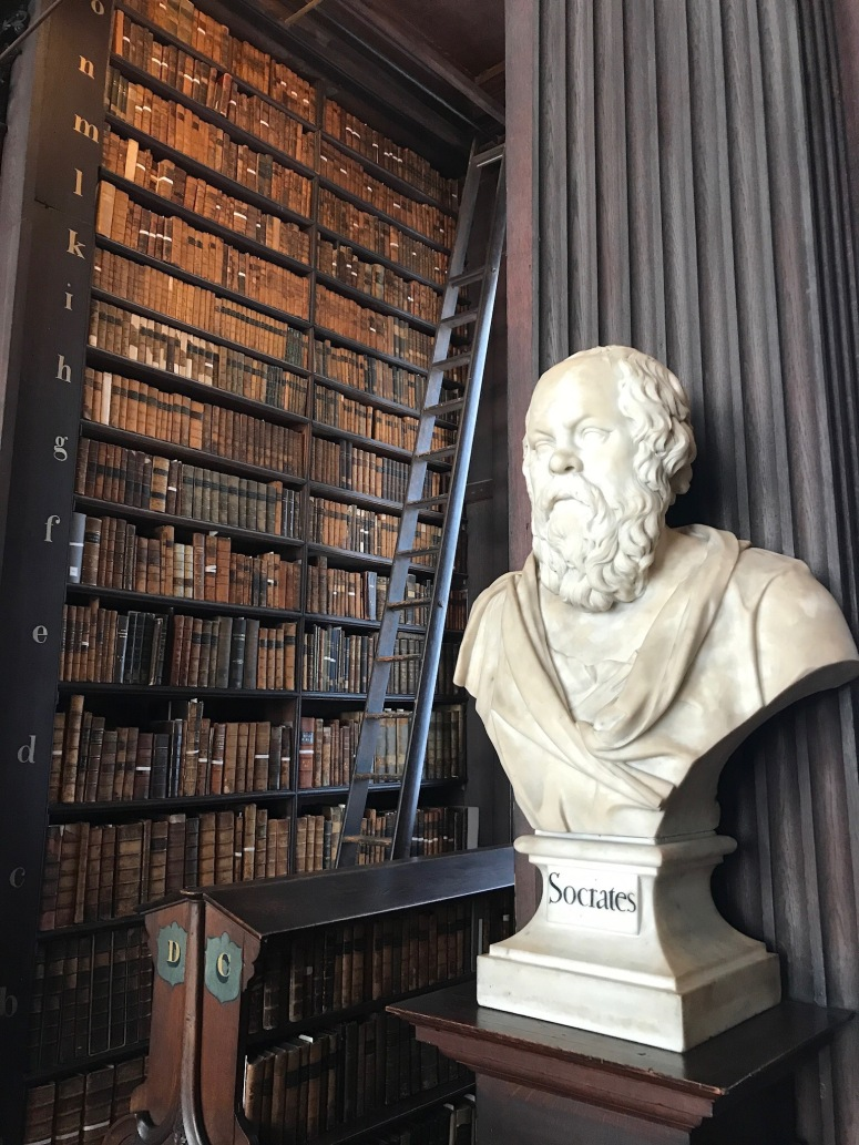 The Long Room at Trinity College, Socrates Statue