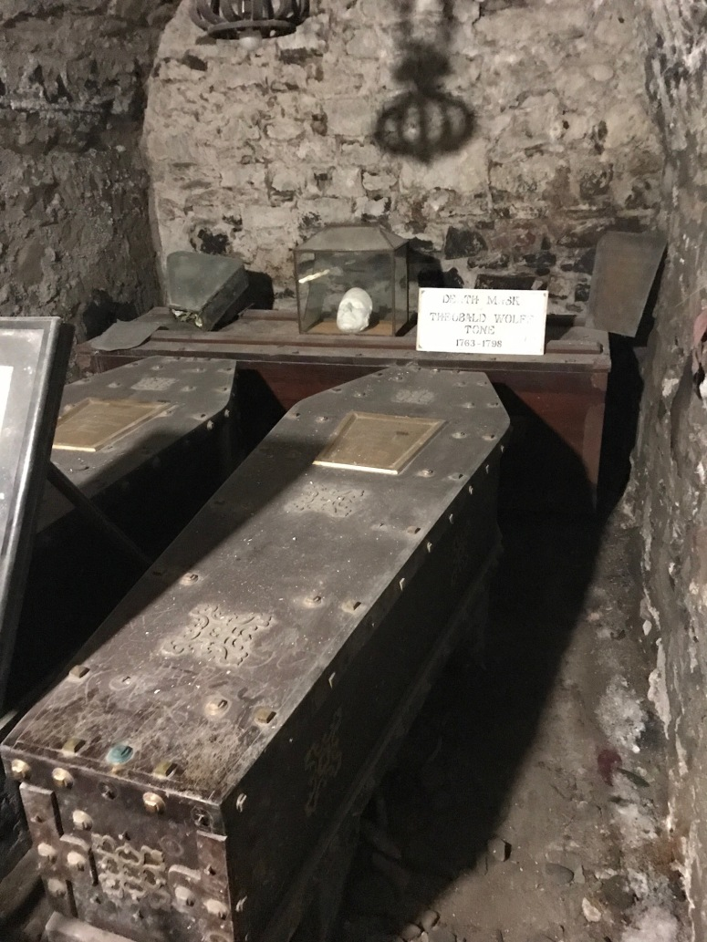 Crypts at St. Michan's Church in Dublin