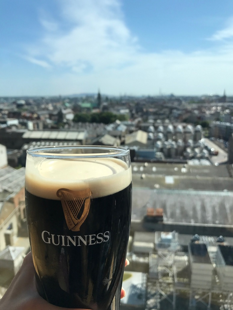 View from the Guinness Storehouse in Dublin
