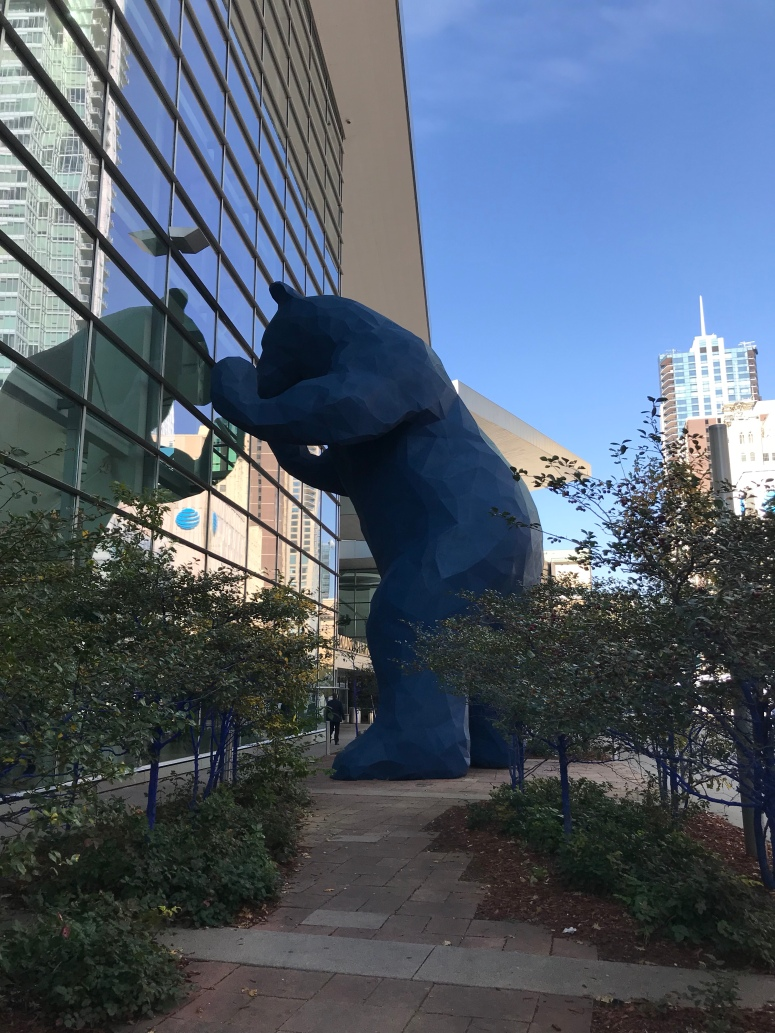 Giant Blue Bear at the Denver Convention Center