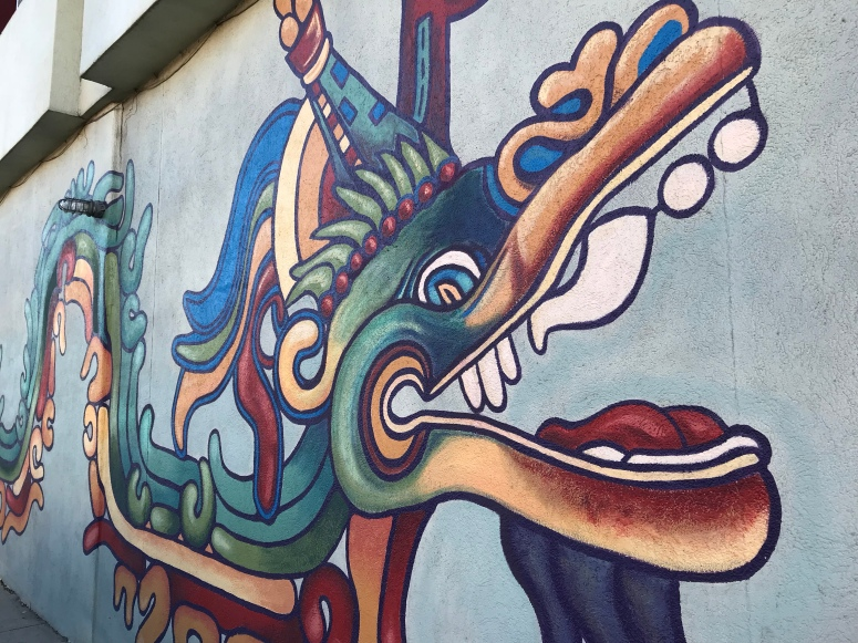 Mural in Denver's Art District on Santa Fe
