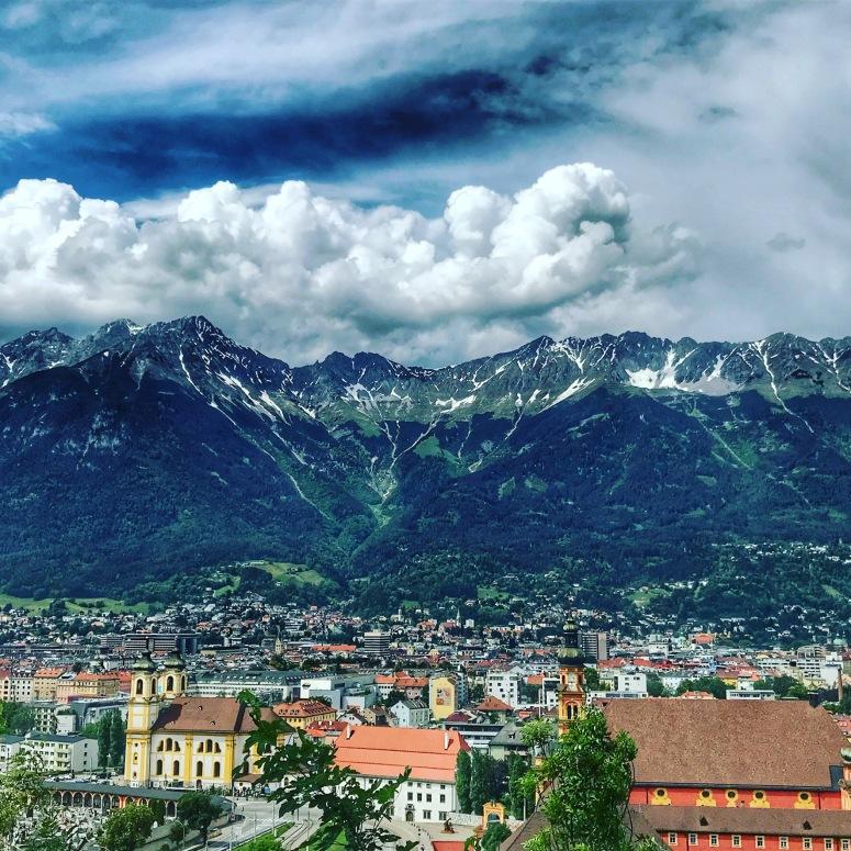 The City of Innsbruck from Tummelplatzweg