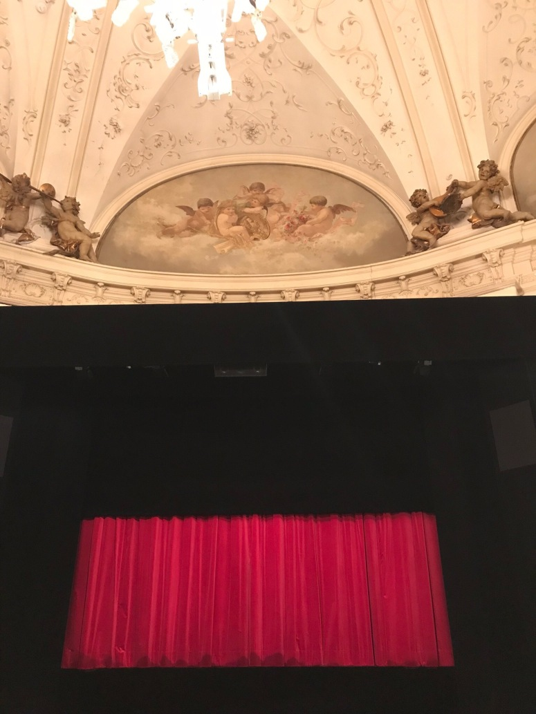 The stage at the Salzburg Marionette Theater (no photos are allowed during performances)