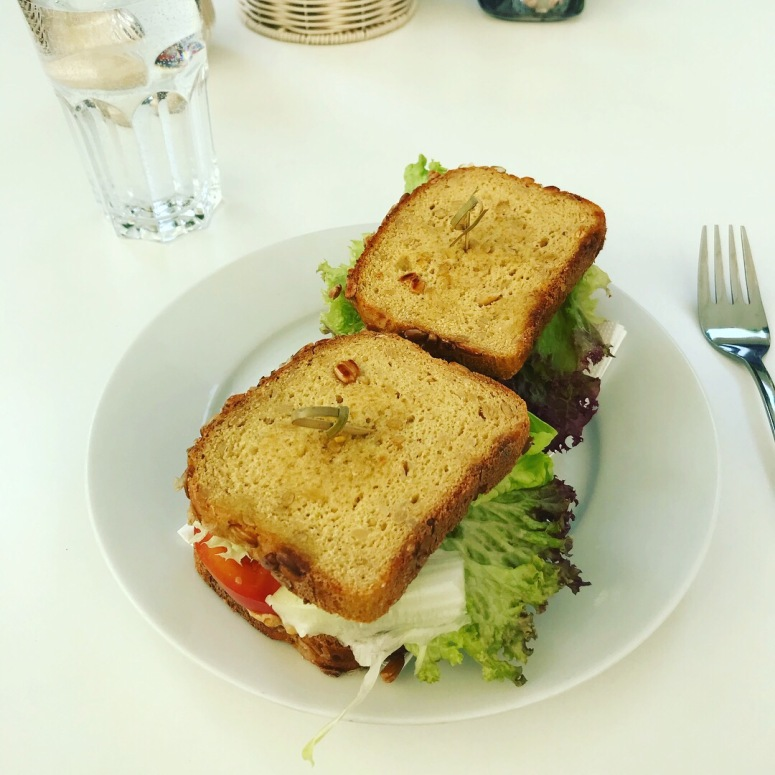Tofu sandwich at Heart of Joy Cafe