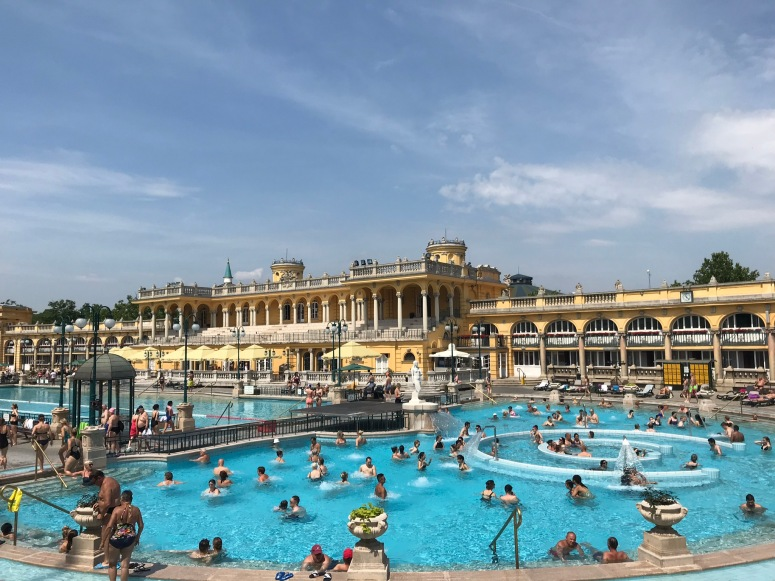 Outdoor Pool at the Szechenyi Baths