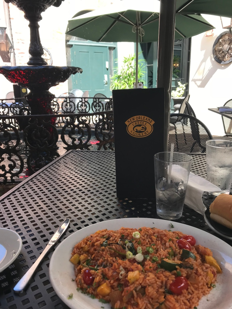 vegetarian jambalaya at the New Orleans Creole Cookery