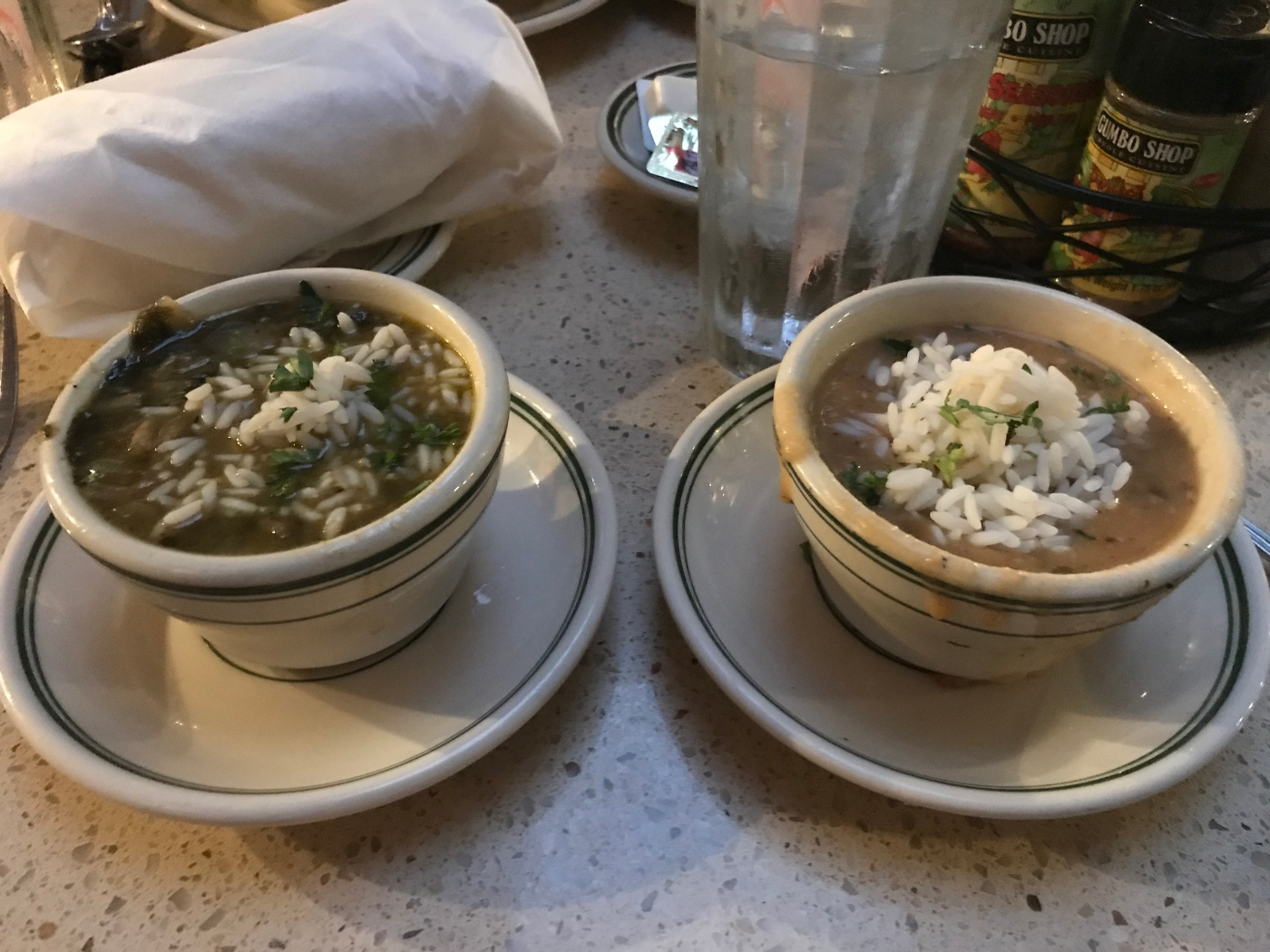 vegan gumbo from the Gumbo Shop in New Orleans