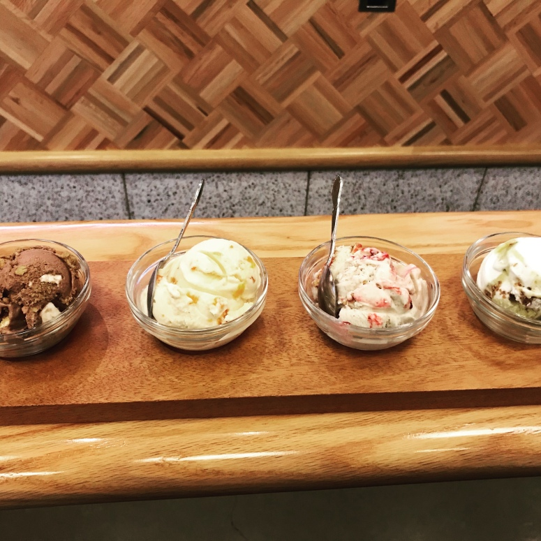 Vegandulgence ice cream flight at Salt & Straw