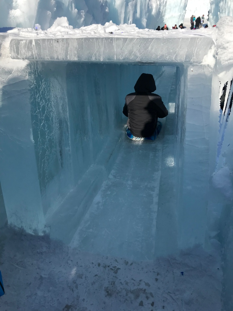 Ice Slides at the Ice Castle in Stillwater, Minnesota