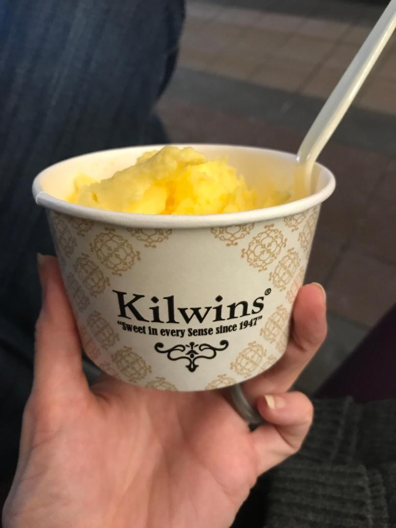 Kilwins lemon sorbet